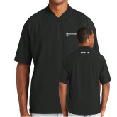 New Era Black Cage Short Sleeve 1/4 Zip-CVN 79