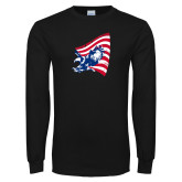 Black Long Sleeve T Shirt-NNS Flag