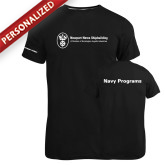 Russell Black Essential T Shirt-Navy Programs