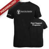 Russell Black Essential T Shirt-Fleet Support Programs