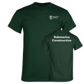 Dark Green T Shirt-Submarine Construction