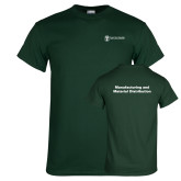 Dark Green T Shirt-Manufacturing and Material Distribution