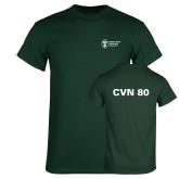 Dark Green T Shirt-CVN 80 and 81