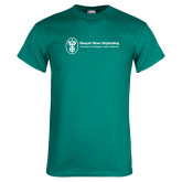 Teal T Shirt-Newport News Shipbuilding