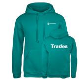 Russell DriPower Teal Fleece Hoodie-Trades