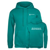 Russell DriPower Teal Fleece Hoodie-Manufacturing and Material Distribution