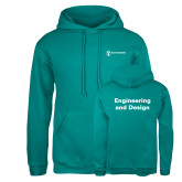 Russell DriPower Teal Fleece Hoodie-Engineering and Design