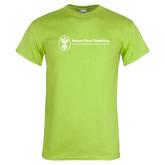 Lime Green T Shirt-Newport News Shipbuilding