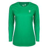 Ladies Syntrel Performance Kelly Green Longsleeve Shirt-Icon