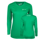 Ladies Syntrel Performance Kelly Green Longsleeve Shirt-Business Management
