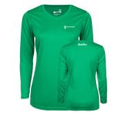 Ladies Syntrel Performance Kelly Green Longsleeve Shirt-Quality