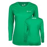 Ladies Syntrel Performance Kelly Green Longsleeve Shirt-CVN 80 and 81
