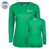 Ladies Syntrel Performance Kelly Green Longsleeve Shirt-Strategic Sourcing