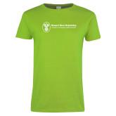 Ladies Lime Green T Shirt-Newport News Shipbuilding