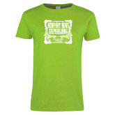Ladies Lime Green T Shirt-NNS Vintage