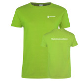 Ladies Lime Green T Shirt-Comms