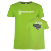 Ladies Lime Green T Shirt-ISCVN