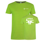 Ladies Lime Green T Shirt-HR and A