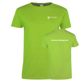 Ladies Lime Green T Shirt-Business Management
