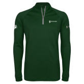 Under Armour Dark Green Tech 1/4 Zip Performance Shirt-HR and A