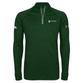 Under Armour Dark Green Tech 1/4 Zip Performance Shirt-Programs Division