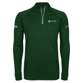 Under Armour Dark Green Tech 1/4 Zip Performance Shirt-Information Technology
