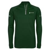 Under Armour Dark Green Tech 1/4 Zip Performance Shirt-ISCVN