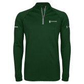 Under Armour Dark Green Tech 1/4 Zip Performance Shirt-Operations