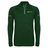 Under Armour Dark Green Tech 1/4 Zip Performance Shirt-Comms