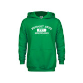 Youth Kelly Green Fleece Hoodie-NNS College Design