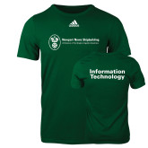 Adidas Dark Green Logo T Shirt-Information Technology