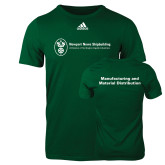 Adidas Dark Green Logo T Shirt-Manufacturing and Material Distribution