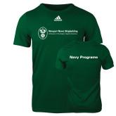 Adidas Dark Green Logo T Shirt-Navy Programs