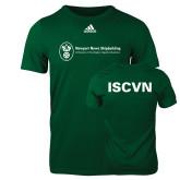 Adidas Dark Green Logo T Shirt-ISCVN