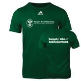 Adidas Dark Green Logo T Shirt-Strategic Sourcing