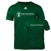 Adidas Dark Green Logo T Shirt-Contracts and Pricing