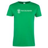 Ladies Kelly Green T Shirt-Newport News Shipbuilding
