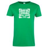 Ladies Kelly Green T Shirt-NNS Vintage