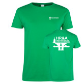 Ladies Kelly Green T Shirt-HR and A