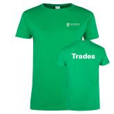 Ladies Kelly Green T Shirt-Trades