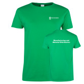 Ladies Kelly Green T Shirt-Manufacturing and Material Distribution