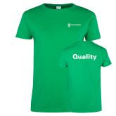 Ladies Kelly Green T Shirt-Quality