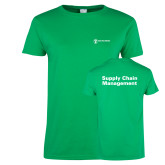 Ladies Kelly Green T Shirt-Strategic Sourcing