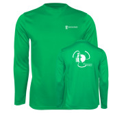 Performance Kelly Green Longsleeve Shirt-NNS IT