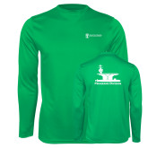 Performance Kelly Green Longsleeve Shirt-Programs Division