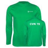 Performance Kelly Green Longsleeve Shirt-CVN 79