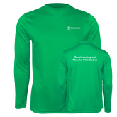 Performance Kelly Green Longsleeve Shirt-Manufacturing and Material Distribution