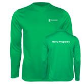 Performance Kelly Green Longsleeve Shirt-Navy Programs