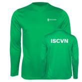 Performance Kelly Green Longsleeve Shirt-ISCVN