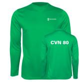 Performance Kelly Green Longsleeve Shirt-CVN 80 and 81
